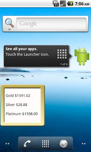 Gold Silver Spot Price Widget