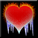 Fire vs ice Heart Battery 2x2 icon