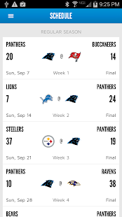 Carolina Panthers Mobile- screenshot thumbnail