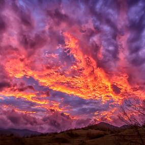 Fall sunset by Stanislav Horacek - Landscapes Sunsets & Sunrises