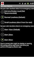 Screenshot of an Emergency Button