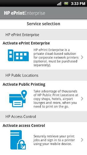 HP ePrint Enterprise (service) screenshots 1