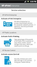 HP ePrint Enterprise (service) Screenshot 1
