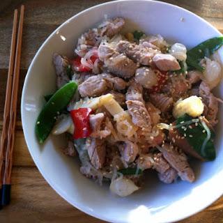 Pork And Ramen Stir-Fry