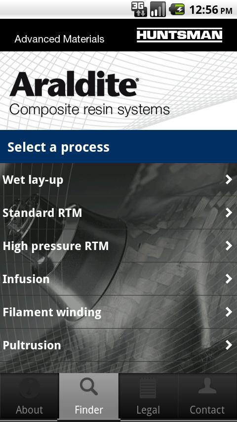 Huntsman – Composite resins– skärmdump