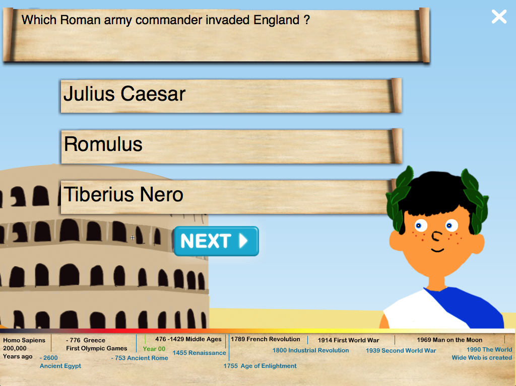 History Quiz for Kids- screenshot