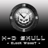 H-D Skull Clock Widget