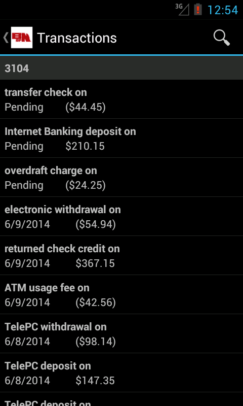 Bank of Nebraska Mobile - screenshot