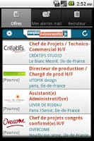 Screenshot of Emploi Événementiel
