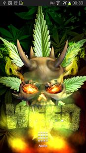 Demon Skull Weed Parallax LWP