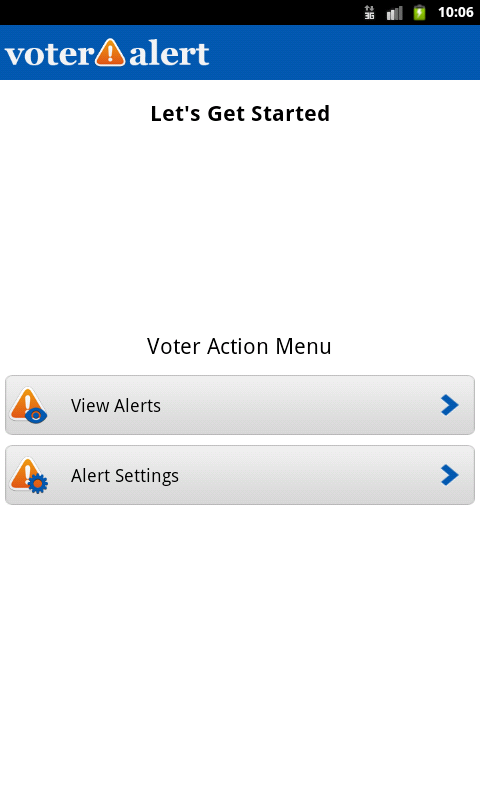 Voter Alert- screenshot