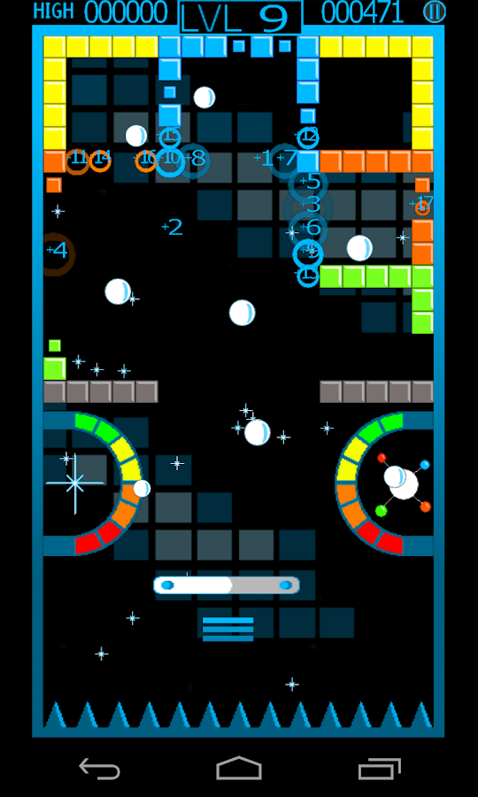 ChromaBurst Brick Breaker Free - screenshot