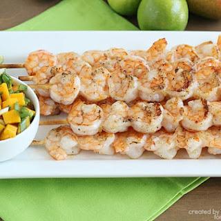 Grilled Shrimp Skewers with Mango Salsa