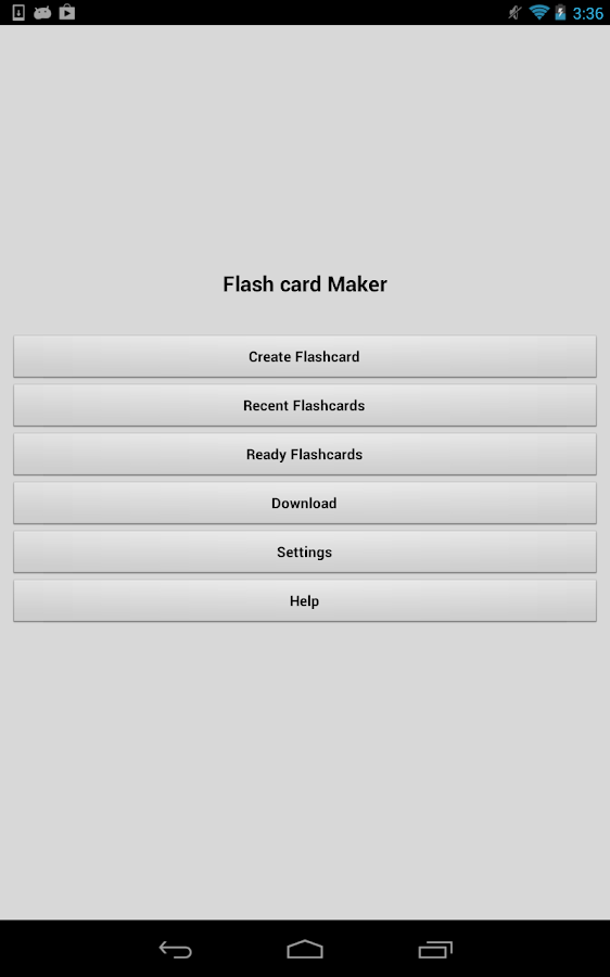 Flash Card Maker - screenshot