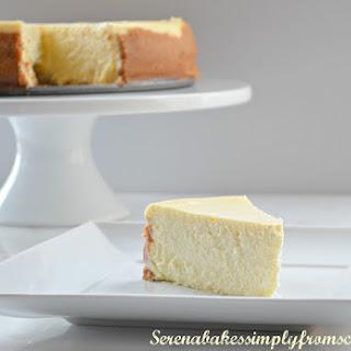 Tall And Creamy Lemon Cheesecake.