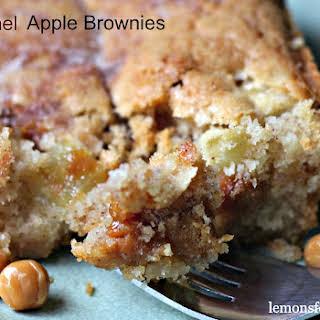 Caramel Apple Brownies.