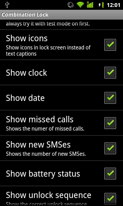 Combination Lock (free) - screenshot