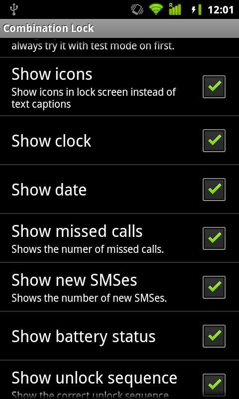 Combination Lock (free) - screenshot