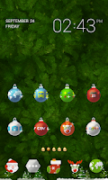 Screenshot of Xmas deco LINE Launcher theme