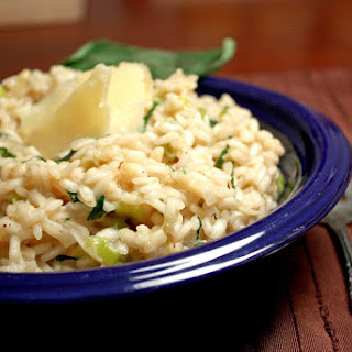 Onion, Leek, And Parm Risotto.