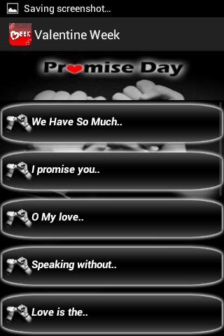 Valentine Week SMS collection - screenshot