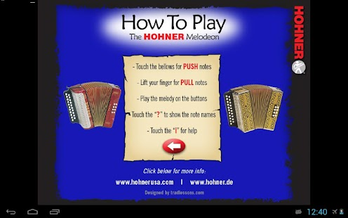 Hohner B/C Button Accordion- screenshot thumbnail