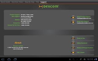 Screenshot of Dexcom