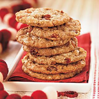 White Chocolate-Oatmeal-Raisin Cookies.