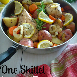 One Skillet Lemon Rosemary Chicken and Potatoes