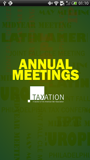 Section of Taxation Meetings