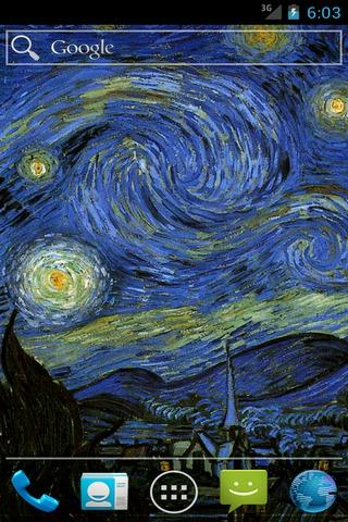 【免費個人化App】Starry Night SQLivewallpaper-APP點子