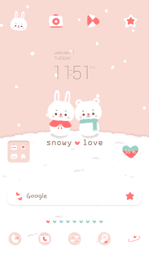 snowy love 도돌런처 테마