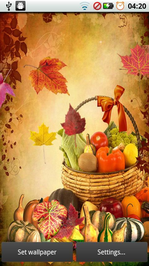 Fall Leaves for Thanksgiving screenshot #2