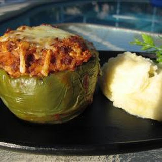 Kelsey's Favorite Stuffed Green Peppers.