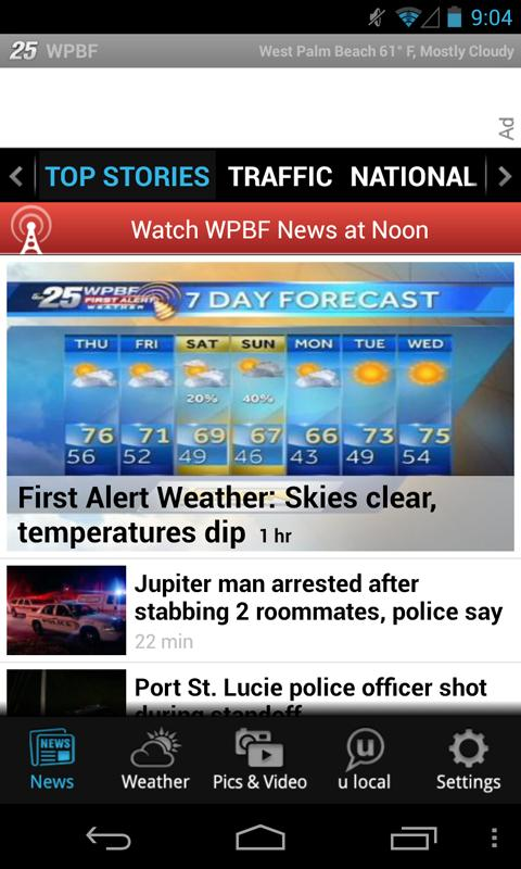 WPBF 25 - news and weather - screenshot