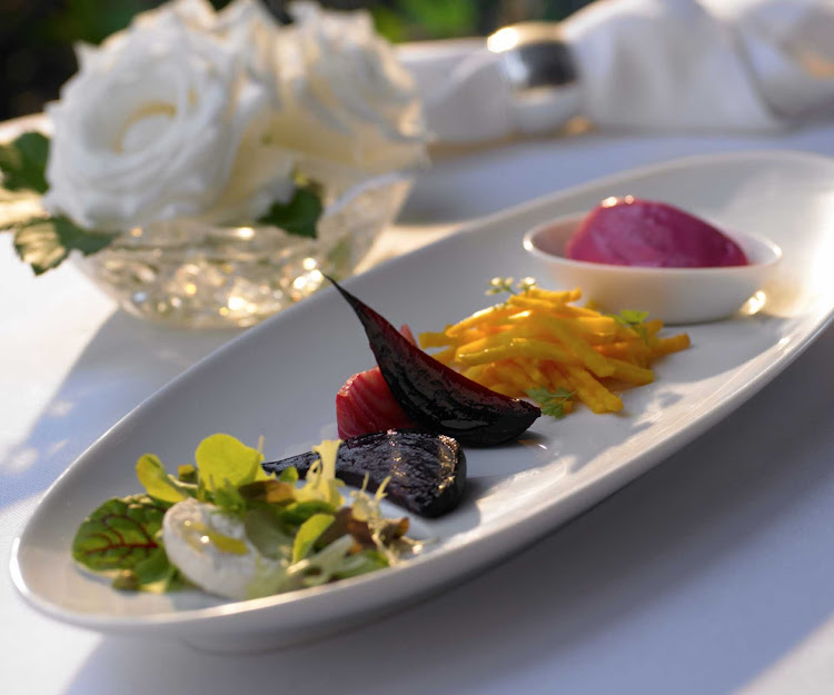 An appetizer dish at Oasis of the Seas' 150 Central Park, overseen by James Beard Award-winning chef and Miami restaurateur Michael Schwartz.