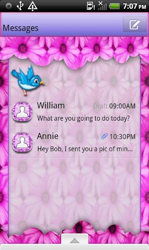 GO SMS THEME SpringFeaver4U