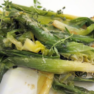 Quick-Braised Young Leeks with Parmesan and Thyme.