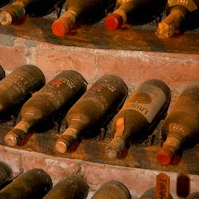 Ancient Italian wine bottles by Gale Perry - Food & Drink Alcohol & Drinks (  )