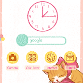 CUKI Theme Cute Ribbon Cat