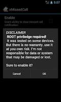 Screenshot of ExDialer xMissedCall Plugin