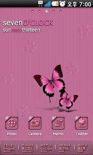 Violet Go Launcher EX theme