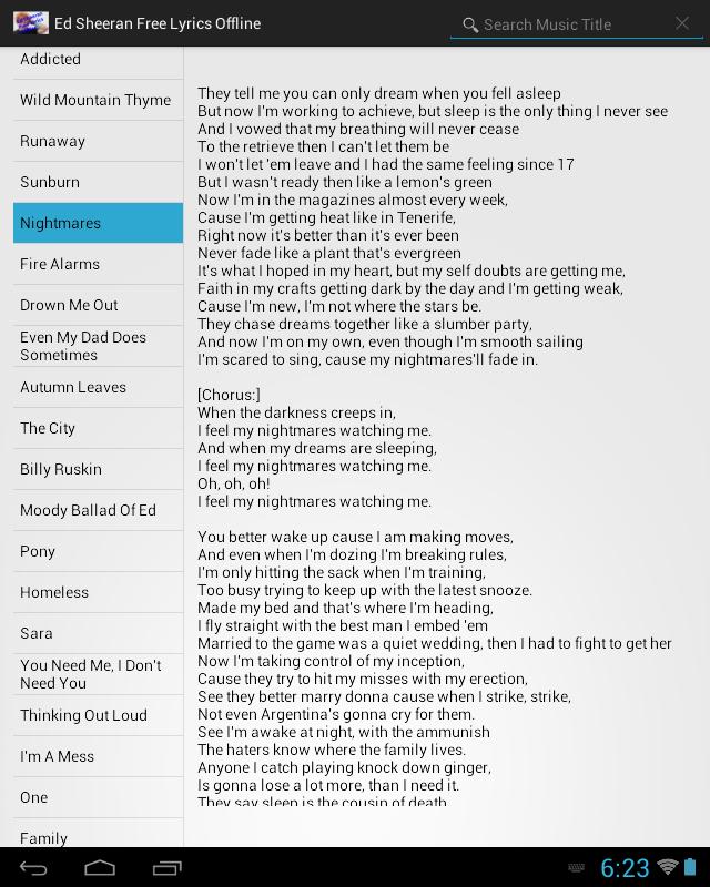 Lyric me & u lyrics : Ed Sheeran Lyrics Free Offline - Android Apps on Google Play