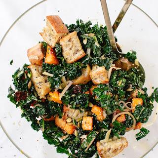 Balsamic Butternut, Kale and Cranberry Panzanella