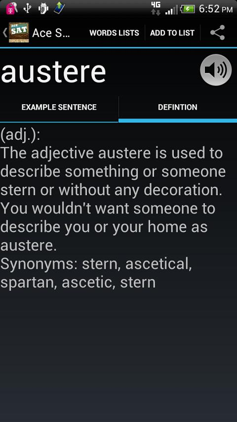 SAT Vocabulary - screenshot