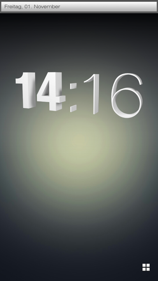 3d clock UCCW skin - screenshot