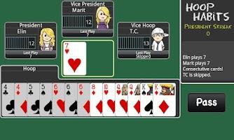 Screenshot of President Card Game