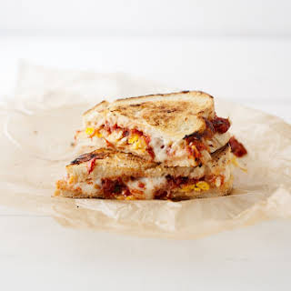 Roasted Tomato and Egg Grilled Cheese Sandwich.