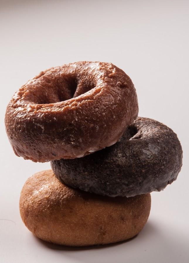 Doughnuts by Daniel Gorman - Food & Drink Candy & Dessert ( chocolate, pumpkin, doughnuts, bake, round, baked,  )