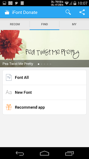 Screenshot for iFont Donate in United States Play Store